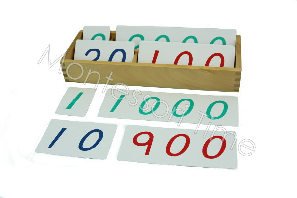 1-9000 Number Card (PVC)