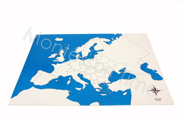 Europe Control Map Unlabeled