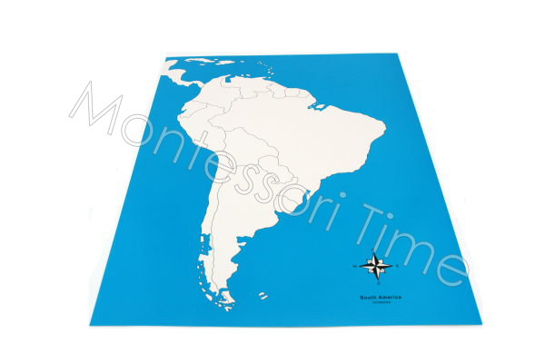 South America Control Map Unlabeled