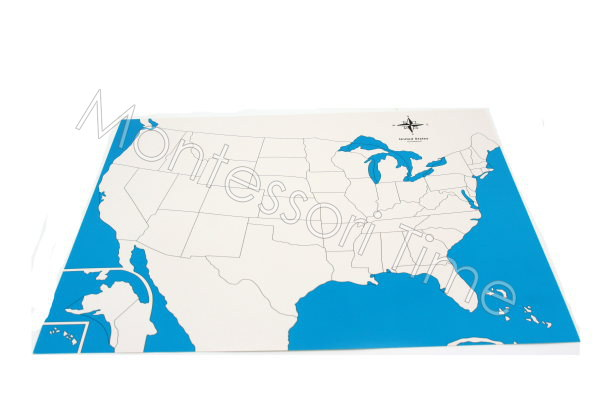 USA Control Map Unlabeled