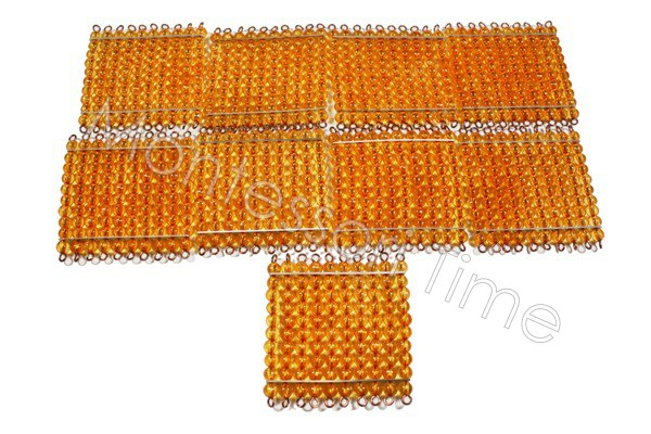Golden Bead Hundred Square (45pieces)