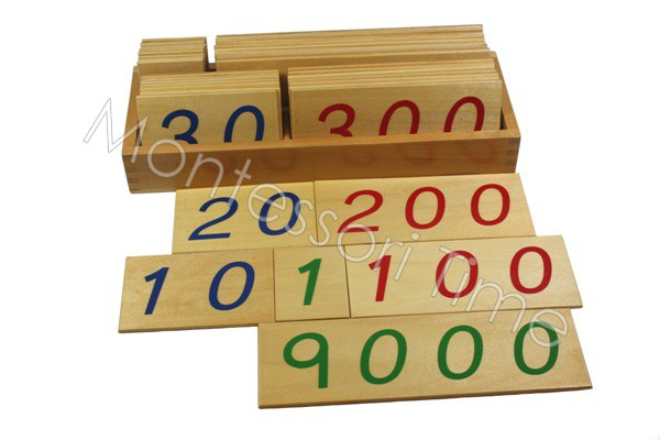 Small Number Cards with Box (1-9000)