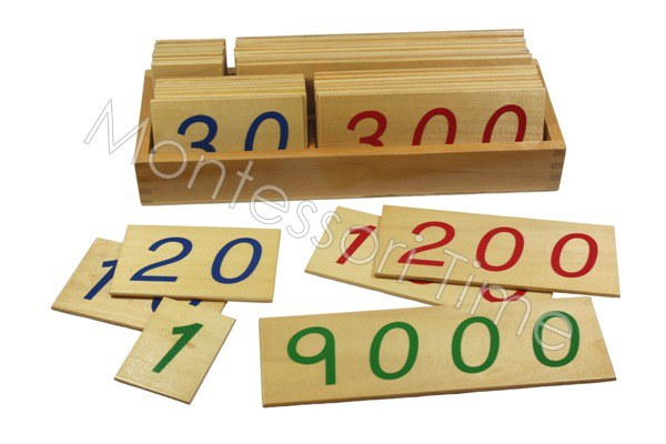 Large Number Cards with Box (1-9000)
