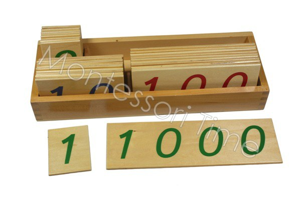 Large Number Cards with Box (1-1000)