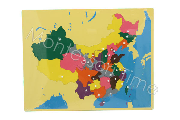 China Puzzle Map