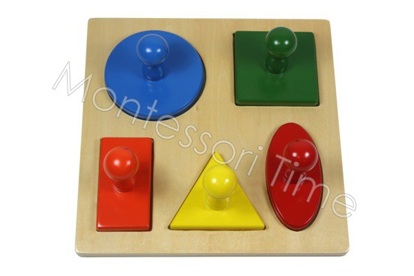 Jumbo Knob Shape Matching Board