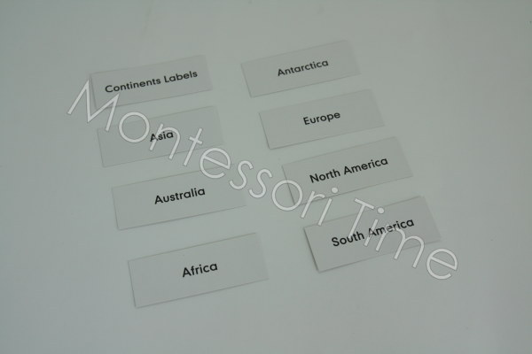 Continents Labels