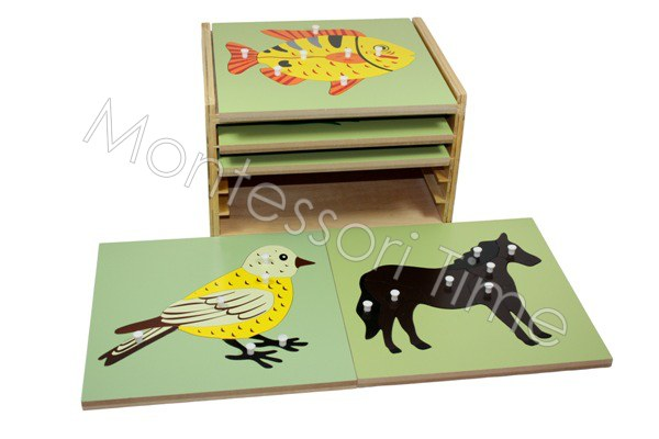 5 Zoology Puzzles with Cabinet