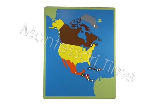 North America Puzzle Map