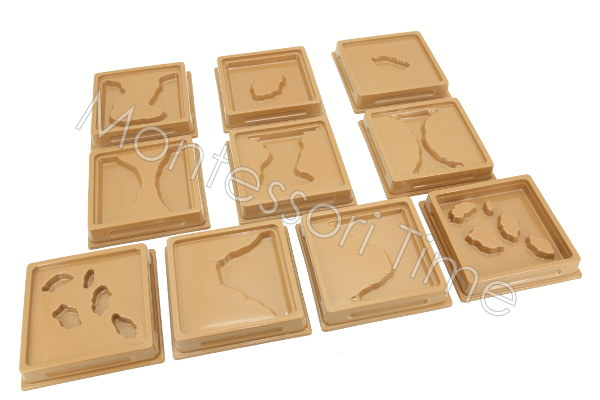 Land & Water Form Trays (10pcs)