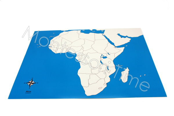 Africa Control Map Unlabeled