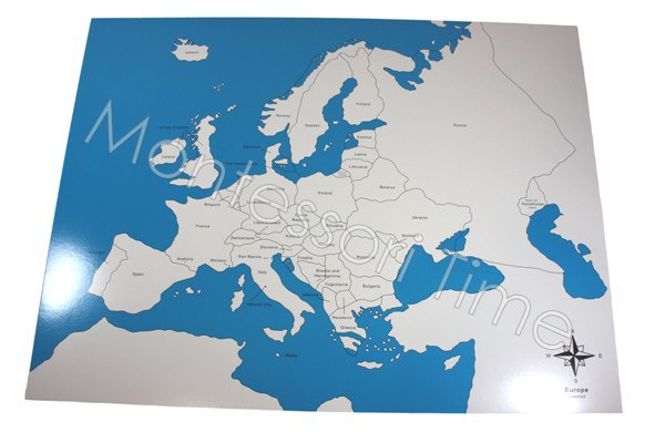 Europe Control Map Labeled