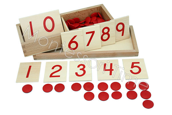 Number Card with Counters